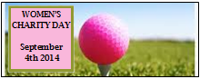 Women's Charity Golf Day front page